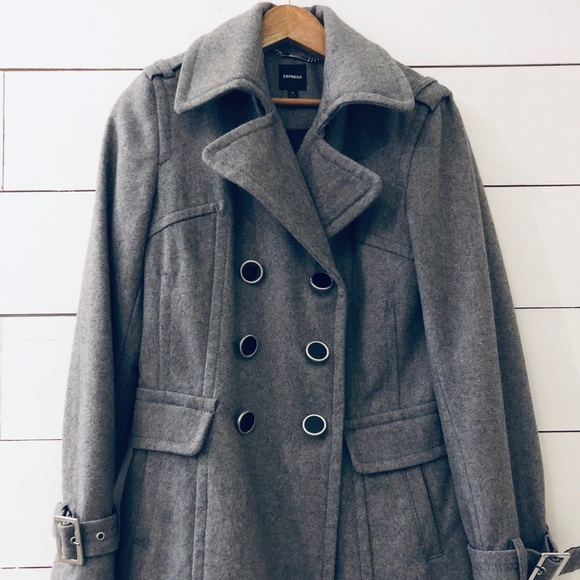 special selection of large discount store Express   Heather Grey Wool Peacoat Small NWOT